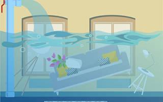 Причина затопления квартиры