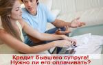 Должен ли муж платить кредит который не брал?