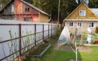 Установка забора между соседями в СНТ