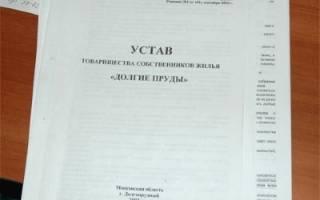 Устав тсж по новому жилищному кодексу 2019 образец