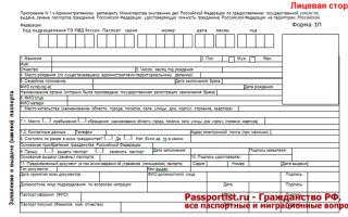 Бланк паспорта действующий по состоянию 2019